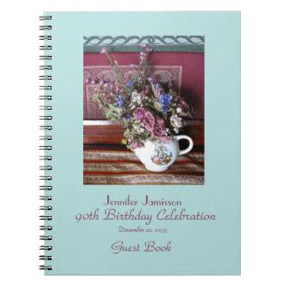 90.o Libro de visitas de la fiesta de cumpleaños, Notebook