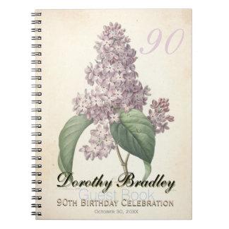90.o libro de visitas del cumpleaños de la lila libros de apuntes