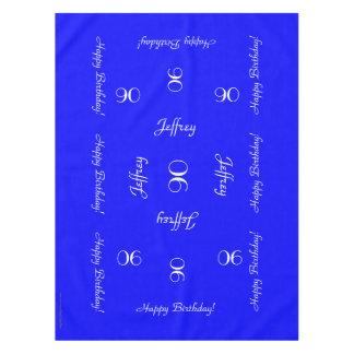90.o mantel personalizado azul brillante del