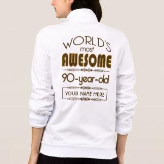 90.o Mundo de la celebración del cumpleaños mejor  Chaquetas Imprimidas