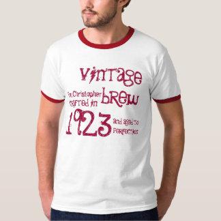 90.o Nombre 1923 del Brew del vintage del regalo Playera