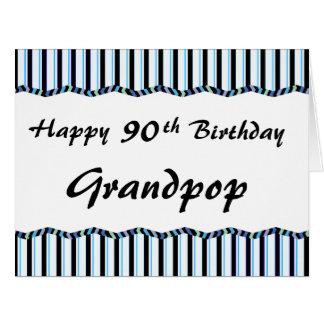 90.o o cualquier edad Cumpleaños-GRANDE Tarjeta