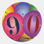 90.o Pegatinas del globo del cumpleaños
