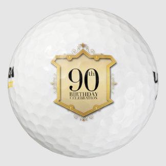 90.o Pelota de golf del marco del vintage de la Pack De Pelotas De Golf