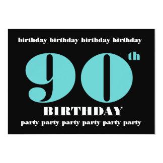 90.o Plantilla de la invitación de la fiesta de