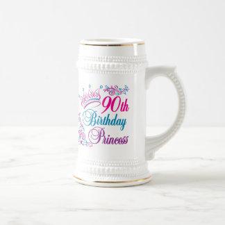 90 o Princesa del cumpleaños Taza De Café