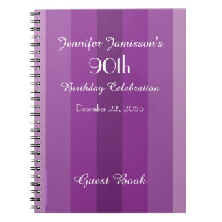 90.o Raya de la púrpura del libro de visitas de la Cuadernos