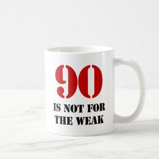 90 o Regalo de la mordaza del cumpleaños Tazas