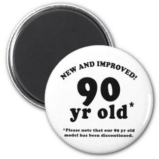 90 o Regalos de la mordaza del cumpleaños Imán Para Frigorifico