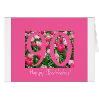 90.o saludo del cumpleaños tarjeton