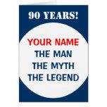90.o Tarjeta de cumpleaños para los hombres el   l