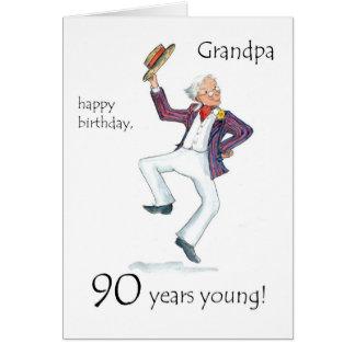 90 o Tarjeta de cumpleaños para un abuelo