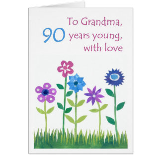 90.o Tarjeta de cumpleaños para una abuela -
