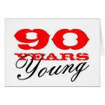 90.o Tarjeta de cumpleaños por 90 años de hombres