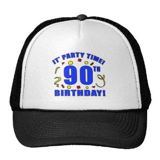 90 o Tiempo de la fiesta de cumpleaños Gorros