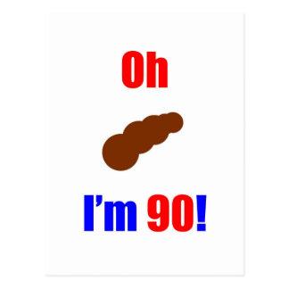 ¡90 oh (imagen de Poo) soy 90! Tarjetas Postales