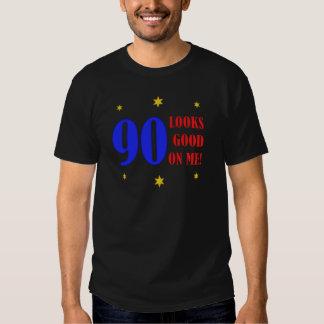 90.os regalos de cumpleaños de la diversión poleras