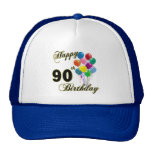 90.os regalos de cumpleaños y ropa felices del cum gorra