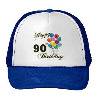 90.os regalos de cumpleaños y ropa felices del cum gorros bordados