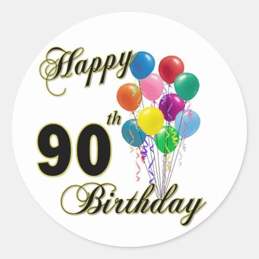 90.os regalos de cumpleaños y ropa felices del cum etiqueta