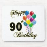 90.os regalos de cumpleaños y ropa felices del cum tapete de ratones