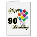 90.os regalos de cumpleaños y ropa felices del cum tarjeton