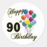 90.os regalos de cumpleaños y ropa felices del etiqueta redonda