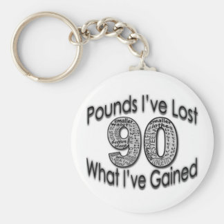 90 Pounds Lost Keychain