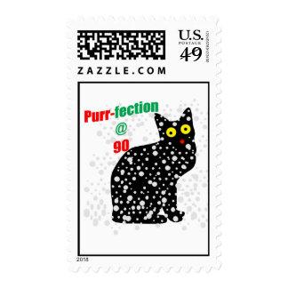 90 Snow Cat Purr-fection Postage