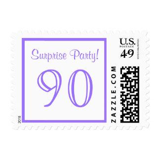 90 Surprise Party Postage - Purple Lilac