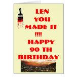 90 th Birthday card