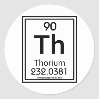 90 Thorium Classic Round Sticker