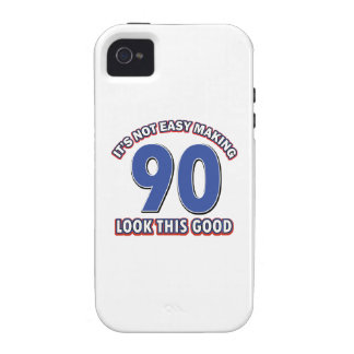 90 year birthday gifts Case-Mate iPhone 4 cover