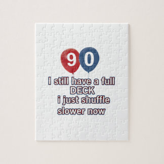 90 year funny birthday designs jigsaw puzzle