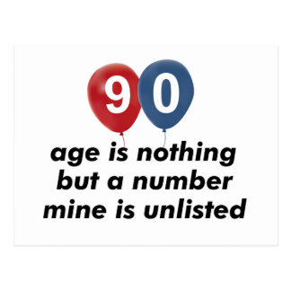 90 year old aging designs postcard