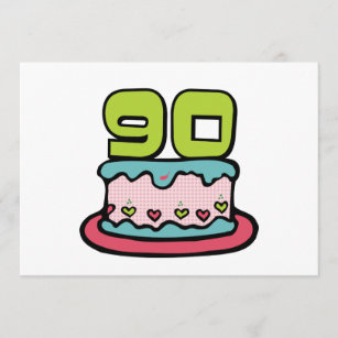 90 Year Old Birthday Cake Card