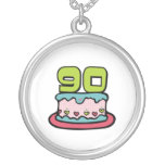 90 Year Old Birthday Cake Necklaces