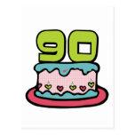90 Year Old Birthday Cake Postcard