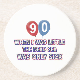 90 year old dead sea birthday designs coaster