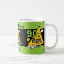 90 Year Old Party Animal | 90th Birthday Coffee Mug