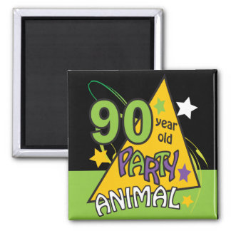 90 Year Old Party Animal | 90th Birthday Magnet