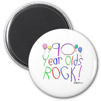 90 Year Olds Rock! Magnet