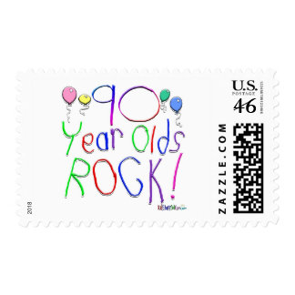 90 Year Olds Rock Stamp