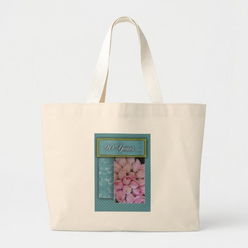 90 years and counting ... large tote bag