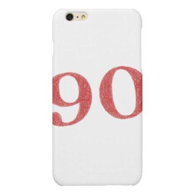 90 years anniversary matte iPhone 6 plus case