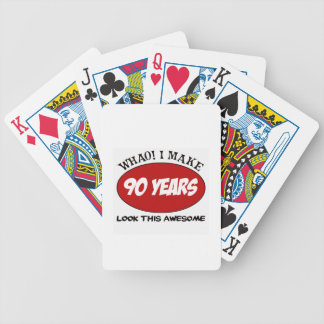 90 YEARS OLD BIRTHDAY DESIGNS BICYCLE PLAYING CARDS