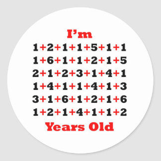 90 Years old! Blk Red Classic Round Sticker