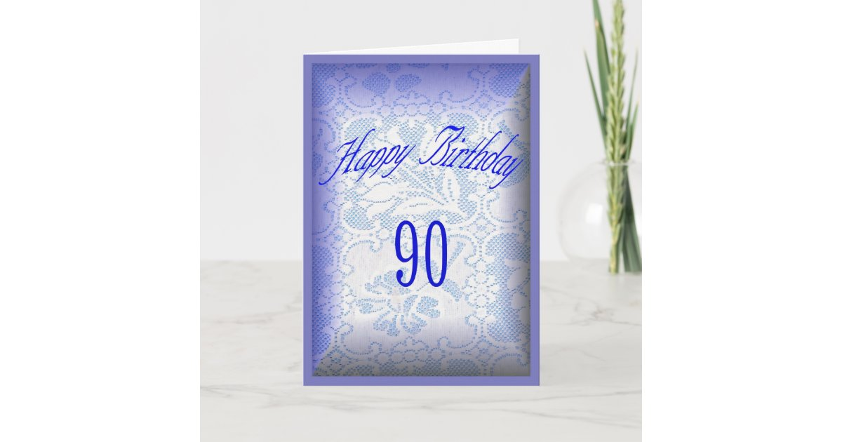 90 Years Old Happy Birthday Card