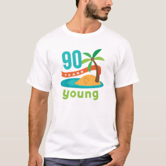 90 Years Young Birthday Gift T-Shirt