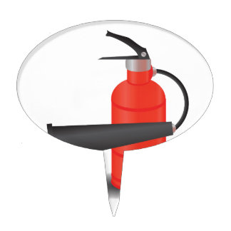 90Fire Extinguisher_rasterized Cake Topper